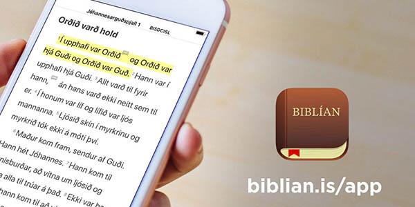 Smelltu til að sækja Biblíu-appið!