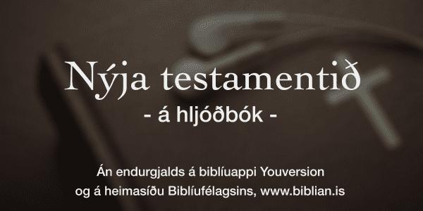 Smelltu til að hlusta á Nýja testamentið og Sálmana!