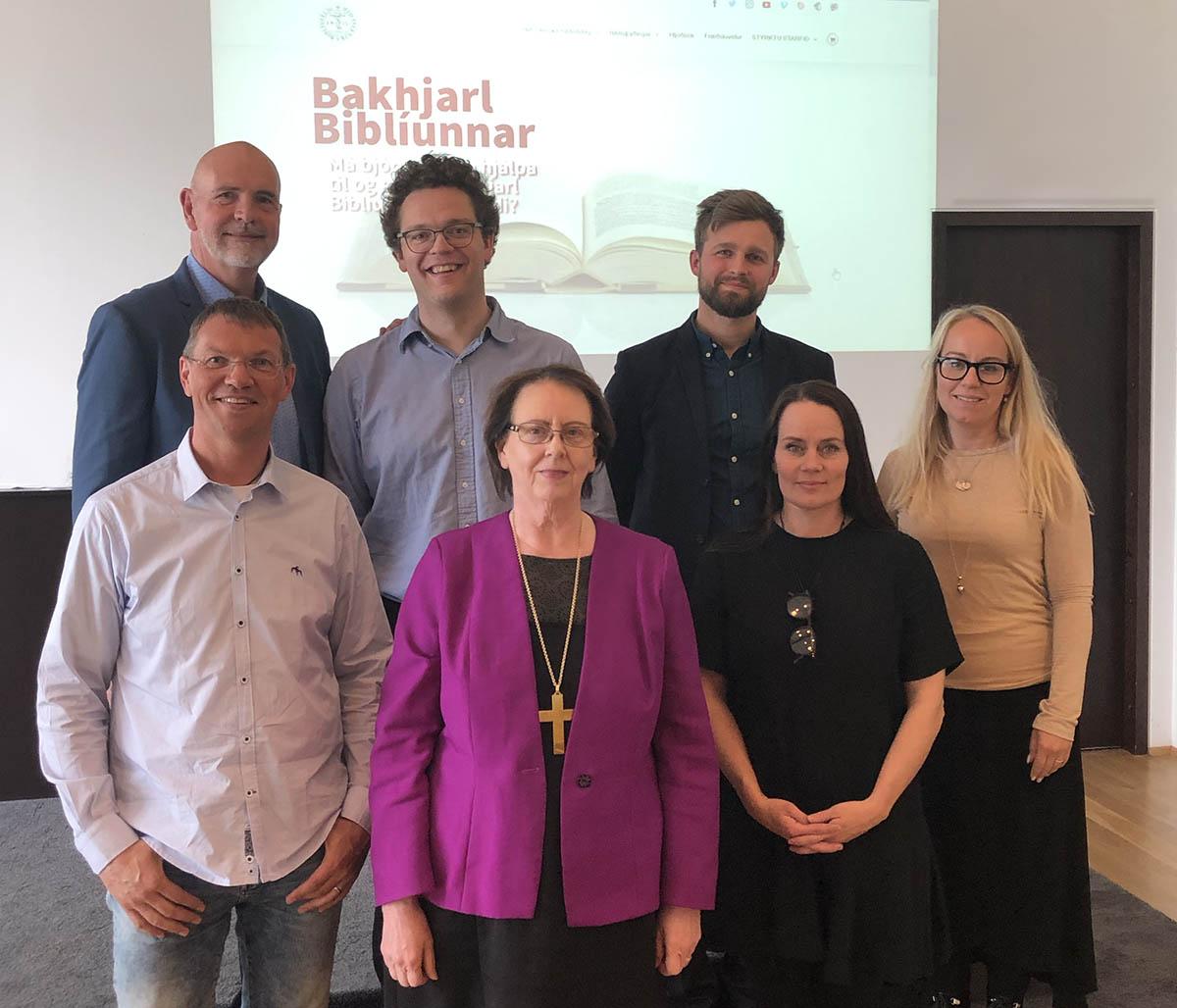 Stjórn Biblíufélagsins að loknum aðalfundi 2020